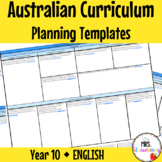 Year 10 Australian Curriculum Planning Templates: English