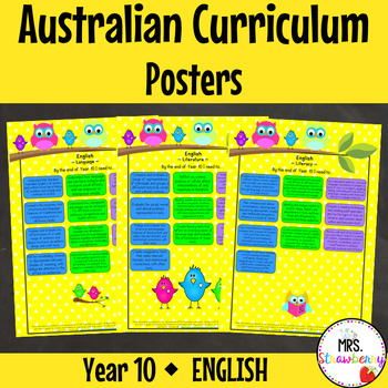 Year 10 Australian Curriculum Posters – English