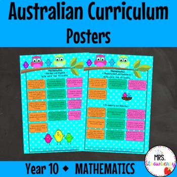 Year 10 Australian Curriculum Posters – Mathematics