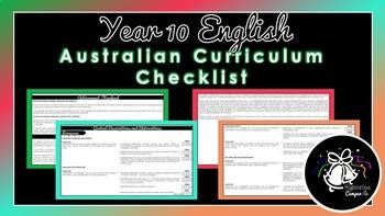 Year 10 English | Australian Curriculum Checklist