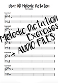 Year 10 Melodic Dictation Exercises + Audio Files