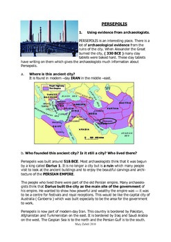 Year 12 Ancient History - Persepolis