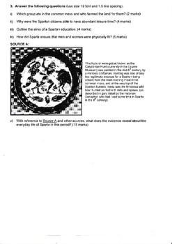 Year 12 Sparta 2 assessment Tasks