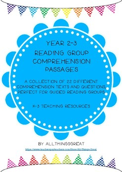 Year 2-3 Comprehension Texts and Questions