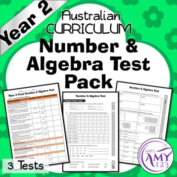 Year 2 Number & Algebra Maths Test Pack- Australian Curriculum