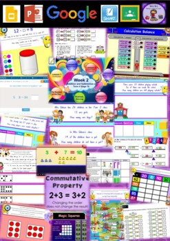 Year 2 Addition and Subtraction Smart Notebook and Unit of Work Bundle 4
