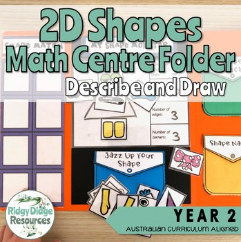Australian Curriculum 2D Shapes Math Centre Activity Folder Bundle