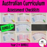 Year 2 Australian Curriculum Assessment Checklists BUNDLE