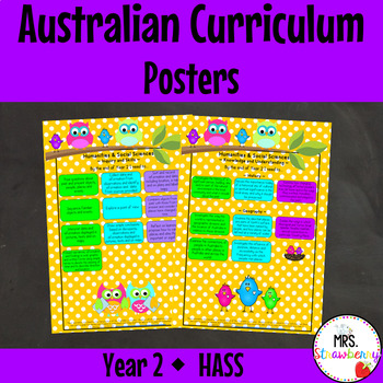 Year 2 Australian Curriculum Posters – Humanities and Soci