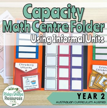 Year 2 Australian Curriculum Capacity Math Centre Activity Folder Bundle