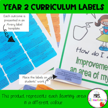 Year 2 Australian Curriculum Learning Outcome Labels/ Tags