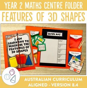 Year 2 Australian Curriculum 3D Shapes Math Centre Activity Folder