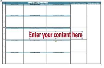 Year 2 Australian Curriculum Mathematics Planning Document (A3 Size)
