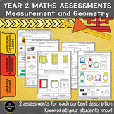 Year 2 Australian Curriculum Maths Assessment Measurement and Geometry
