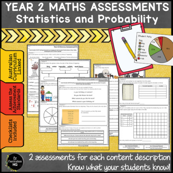 Year 2 Australian Curriculum Maths Assessment Statistics and Probability