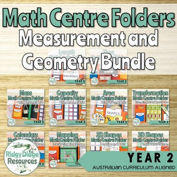 Australian Curriculum Measurement and Geometry Math Centre Folders Bundle