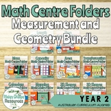 Year 2 Australian Curriculum Measurement and Geometry Math Centre Folders Bundle