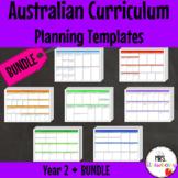Year 2 Australian Curriculum Planning Templates Bundle