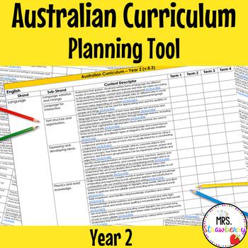 Year 2 Australian Curriculum Planning Tool
