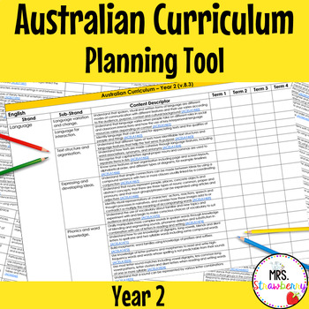 Year 2 Australian Curriculum Planning Tool