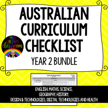 Year 2 BUNDLE - Australian Curriculum Checklists