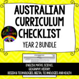 Year 2 BUNDLE - Australian Curriculum Checklists