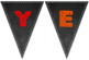 Year 2 Chalkboard Themed Bunting Sign