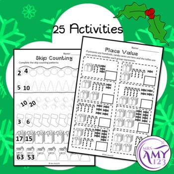 Year 2 Christmas Maths Revision - Australian Curriculum Aligned