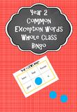Year 2 Common Exception Words - Bingo