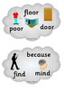Year 2 Common Exception Words - Clouds for display