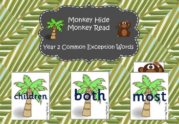 Year 2 Common Exception Words - Monkey Hide Monkey Read