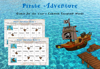 Year 2 Common Exception Words - Pirate Adventure