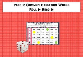 Year 2 Common Exception Words - Roll It Read It