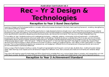 Year 2 Design and Technologies - Australian Curriculum v8.3