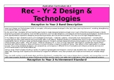 Reception to Year 2 Design and Technologies - Australian C