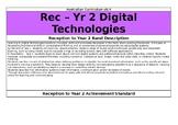 Reception to Year 2 Digital Technologies Overview - Australian Curriculum v8.3