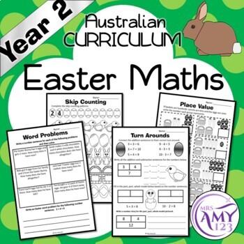 Year 2 Easter Maths - Australian Curriculum Aligned