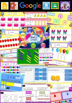 Year 2 Fractions Smart Notebook and Unit of Work Bundle 2