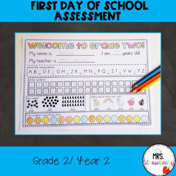 Year 2/ Grade 2 First day/ First Week Activity