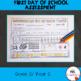 First Day of School Assessment Worksheet: Grade 2