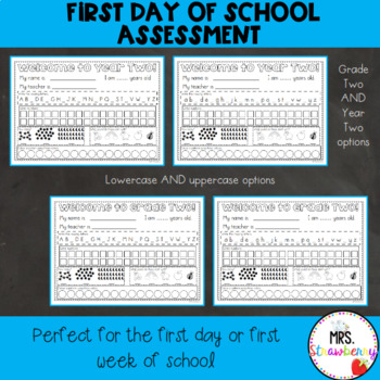 First Day of School Assessment Worksheet: Grade 2
