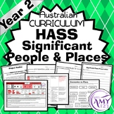 Australian Curriculum Year 2 HASS Significant People and Places Unit
