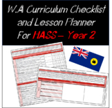 Year 2 HASS Western Australian Curriculum Checklist and Lesson Planner