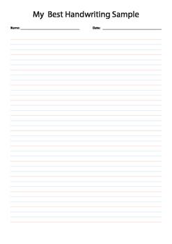 Year 2 Handwriting Paper A4 PDF (iPad, Whiteboard or Print)