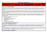 Year 1 and 2 Health and PE Overview - Australian Curriculum v8.3