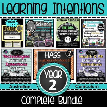 Year 2 Learning INTENTIONS & Success Criteria. All SUBJECTS (Aus. Curric BUNDLE!