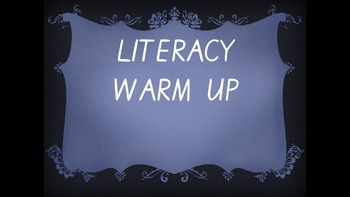 Year 2 Literacy Warmup Term 1 Week 4