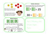 Year 2 Mastery Greater Depths Place Value and Number Task Cards