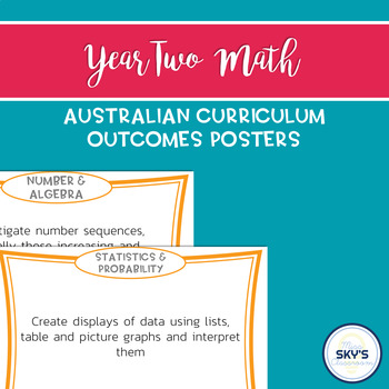 Year 2 Math Outcomes Posters - AUSTRALIAN CURRICULUM