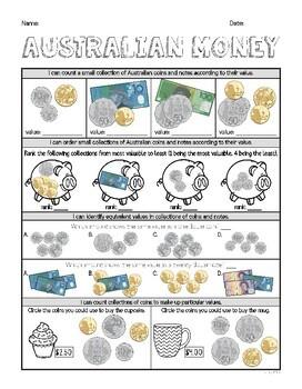 Year 2 Mathematics Assessment | AUSTRALIAN MONEY